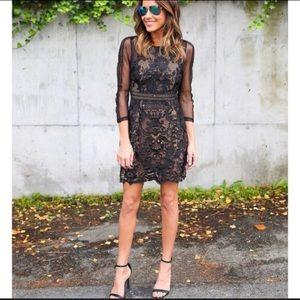 Vici beige lace little black dress